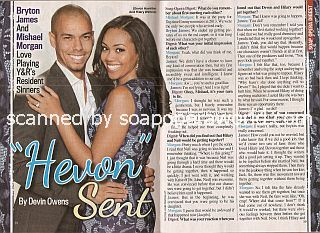 Interview with Bryton James & Mishael Morgan (Devon and Hilary on The Young & The Restless)