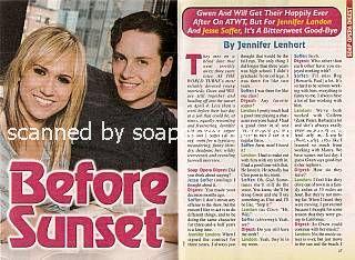 Jennifer Landon & Jesse Soffer (Gwen & Will, ATWT)