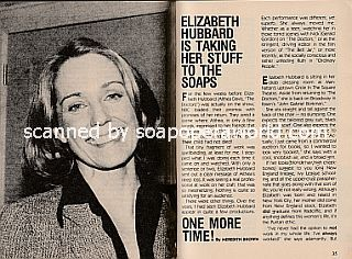 Interview with Elizabeth Hubbard (Althea Davis on soap opera, The Doctors)