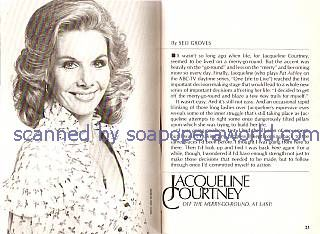 Interview with Jacqueline Courtney (Pat Ashley on One Life To Live)
