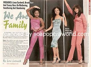Lena Cardwell, Brook Kerr & Tracey Ross (Simone, Whitney & Eve of Passions)