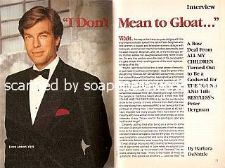 Interview with Peter Bergman (Jack Abbott on The Young & The Restless)