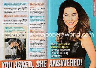 Interview with Jacqueline MacInnes Wood (Steffy on The Bold and The Beautiful)