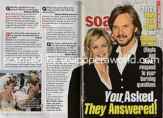 Interview with Mary Beth Evans and Stephen Nichols (Kayla and Steve on Days Of Our Lives)
