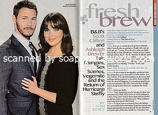 Interview with Scott Clifton and Ashleigh Brewer (Liam and Ivy on The Bold and The Beautiful)