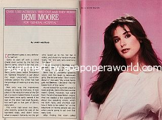 Interview with Demi Moore of General Hospital