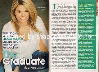 Interview with Kristina Wagner (Felicia on General Hospital)