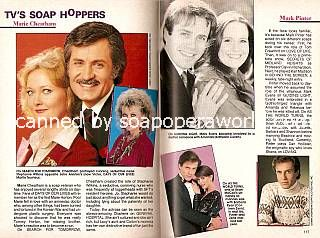 Marie Cheatham of General Hospital and Mark Pinter of Loving