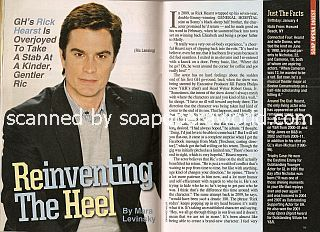 Interview with Rick Hearst (Ric on the soap opera, General Hospital)