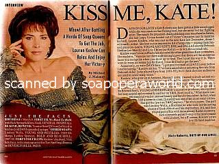 Lauren Koslow played the role of Kate Roberts on Days Of Our Lives