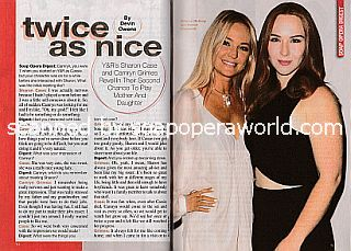 Interview with Sharon Case and Camryn Grimes (Sharon and Mariah on The Young and The Restless)