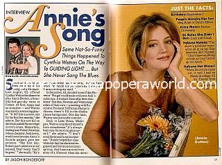 Cynthia Watros played the role of crazy Annie on Guiding Light