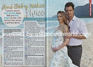 Interview with soap stars and real-life couple Darin Brooks & Kelly Kruger