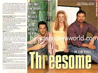David Lago, Lauren Woodland & John Enos (Raul, Brittany & Bobby, Y&R)