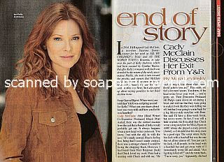 Interview with Cady McClain (ex-Kelly Andrews on The Young & The Restless)