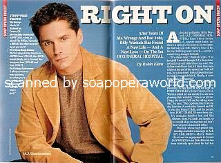 Billy Warlock played the role of A.J. Quartermaine on General Hospital
