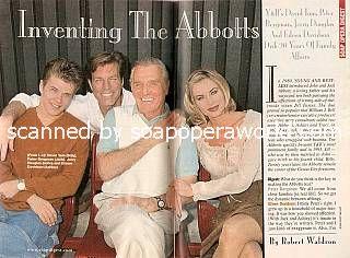David Tom, Peter Bergman, Jerry Douglas & Eileen Davidson (Billy, Jack, John & Ashley of Y&R)