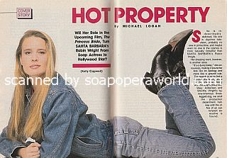 Interview with Robin Wright (Kelly Capwell on the soap opera, Santa Barbara)