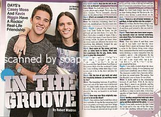 Interview with  Casey Moss & Kevin Riggin (JJ Deveraux and Rory on the soap opera, Days Of Our Lives)