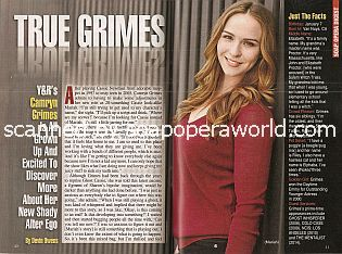 Interview with Camryn Grimes (Mariah on the CBS soap opera, The Young & The Restless)