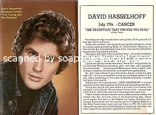 Interview with David Hasselhoff (Snapper on The Young & The Restless)