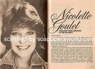 Interview with Nicolette Goulet (Kathy on Search For Tomorrow)
