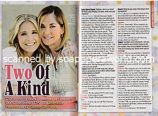 Interview with Melissa Reeves and Kassie DePaiva (Jennifer and Eve  on soap opera, Days Of Our Lives)