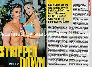 Interview with Darin Brooks & Katrina Bowden (Wyatt and Flo on The Bold and The Beautiful)
