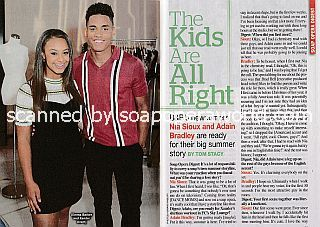 Interview with Nia Sioux and Adain Bradley (Emma and Xander on The Bold and The Beautiful)