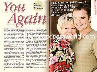 Interview with Judi Evans & Wally Kurth (Adrienne & Justin on Days Of Our Lives)