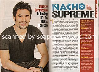 Interview with  Ignacio Serricchio (Alex Chavez on the soap opera, The Young & The Restless)