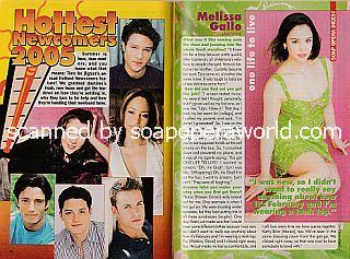 Soap's Hottest Newcomers featuring Melissa Gallo (Adriana on One Life To Live)