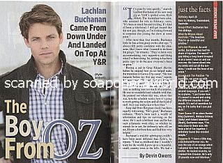 Interview with Lachlan Buchanan (Kyle Abbott on CBS soap opera, The Young and The Restless)