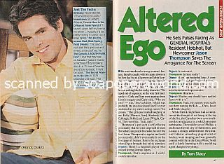 Interview with Jason Thompson (Patrick on the ABC soap, General Hospital)