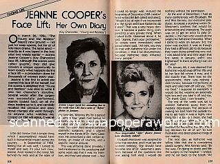 Jeanne Cooper's Face Lift:  Her Own Diary