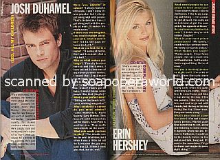 Soaps' Hottest Newcomers featuring Josh Duhamel and Erin Hershey