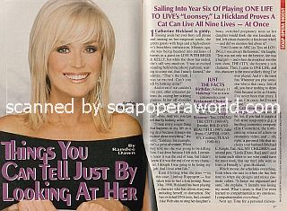 Interview with Catherine Hickland of One Life To Live