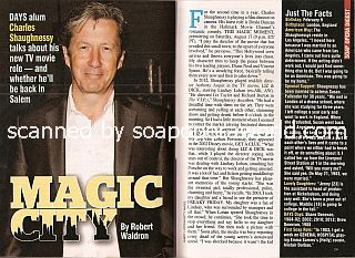 Interview with Charles Shaughnessy (ex-Shane on the soap opera, Days Of Our Lives)
