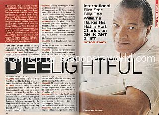 Interview with Billy Dee Williams (Toussaint on the ABC soap opera, GH:  Night Shift)