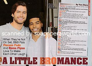 Interview with Pierson Fode and Rome Flynn (Thomas and Zende on The Bold and The Beautiful)