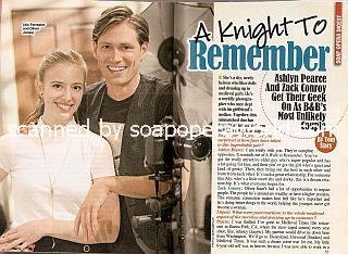 Interview with Ashlyn  Pearce & Zack Conroy (Aly and Oliver on soap opera, The Bold & The Beautiful)