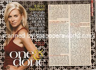 Interview with Eileen Davidson (ex-Kristen on the soap opera, Days Of Our Lives)