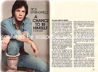 Rick Springfield played the role of Dr. Noah Drake on General Hospital