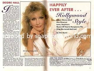 Interview with Deidre Hall (Marlena Evans on Days Of Our Lives)