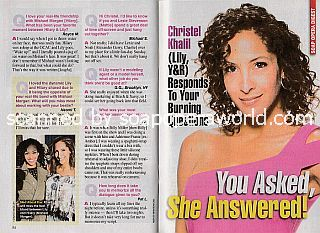 Interview with Christel Khalil (Lily on The Young and The Restless)