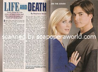 Days Of Our Lives Cover Story featuring Alison Sweeney & Bryan Dattilo (Sami & Lucas)