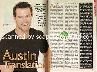 Interview with Austin Peck (Brad on As The World Turns)