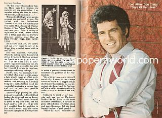 Days Of Our Lives Cover story featuring Jed Allan (Don Craig on Days Of Our Lives)