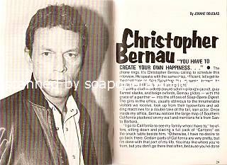 Interview with Chris Bernau (Alan Spaulding on Guiding Light)