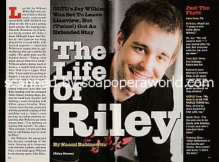 Interview with Jay Wilkison (Riley on the ABC soap opera, One Life To Live)
